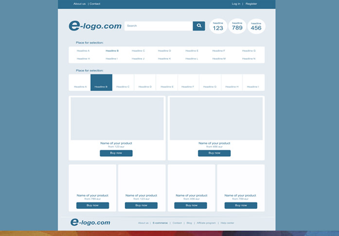 Website Layout Designing example