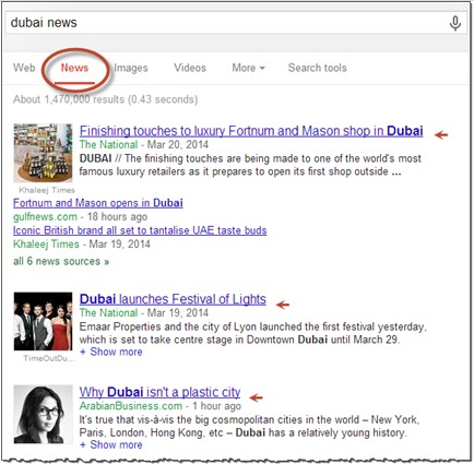 Google News Tab Layout