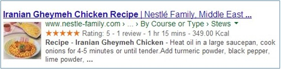 Google Recipe SERPs