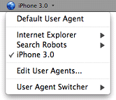 User Agent Switcher Extension
