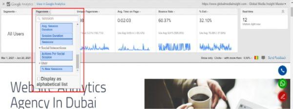 google analytics heat map